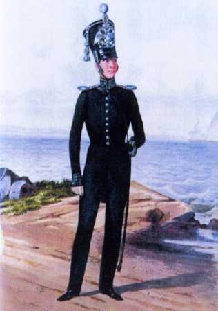 Обер-офицер Ластовой роты ГЭ. 1830–1845гг. Из собрания ЦВММ. 3421/49.