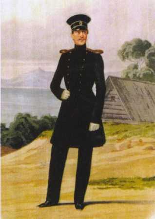 Обер-офицер ГЭ. 1844–1855гг. Из собрания ЦВММ. 3421/58.