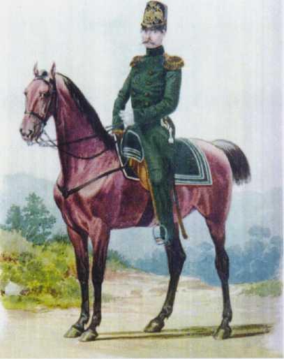 Штаб-офицер ГЭ. 1852 1855гг. Из собрания ЦВММ. 3421/62.