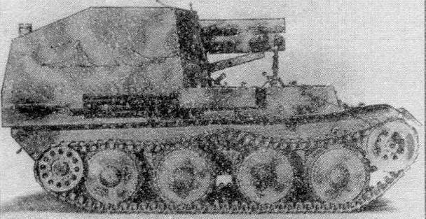 """Немецкая 155-мм САУ """"Грилле"""""""