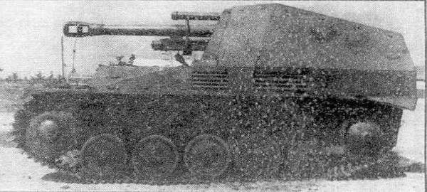 """Немецкая 105-мм САУ """"Веспе"""""""