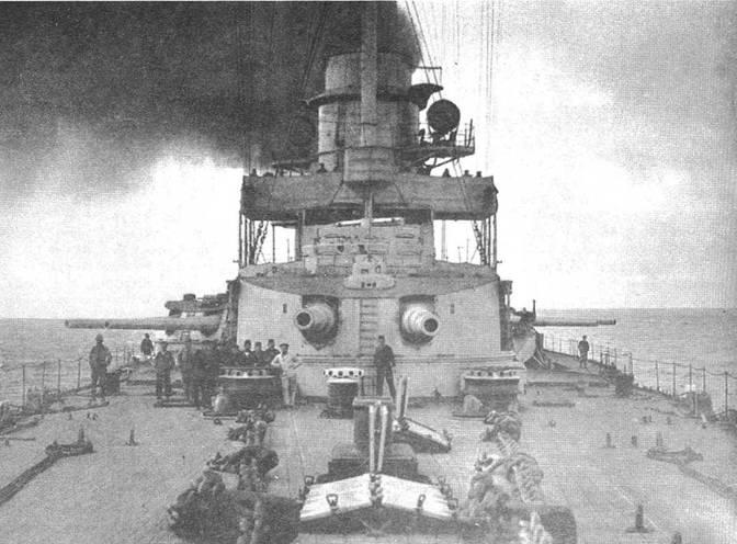 Носовые орудийные башни линейного крейсера «Гебен»