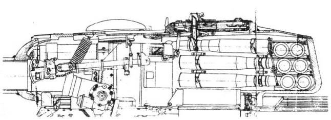 Схема установки 100-мм пушки Д-10 в башне Т-34-100