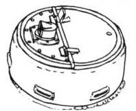 образца 1945 года с закругленной верхней кромкой и одностворчатой крышкой