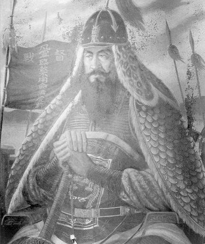 Адмирал Ли Суп-син, национальный герои Кореи, портрет из гробницы адмирала в Норянге.