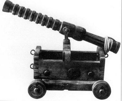 Корейская «желтая» корабельная пушка на колесном шасси. «Желтые» пушки были самыми легкими типами пушек на корейском флоте.
