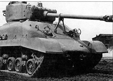 Танк М4А1 с башней «Тип 2» и 76-мм пушкой М1А1. Применяется «мокрый» способ хранения боекомплекта, горизонтальная подвеска и гусеницы шириной 585 мм. Всего с января 1944 по июль 1945 г. было выпущено 3426 танков M4A1(76)W.