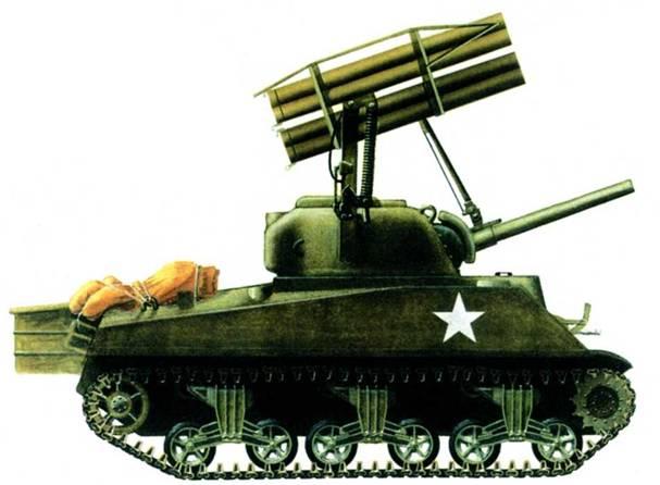 Пусковая установка Т34 представляла собой результат первой попытки разработки с несколькими направляющими, которую можно было использовать прямо на поле боя. Установка имела шесть трубчатых направляющих, которые заряжались ракетами калибра 114,3 мм.