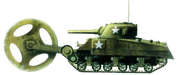 Минный трал Т1ЕЗ по прозвищу «Тетя Джемайма» использовался в Европе после высадки в Нормандии в небольших масштабах. Иногда требовалась помощь второго танка, так как в одиночку «Шерман» не мог сдвинуть трал с места.