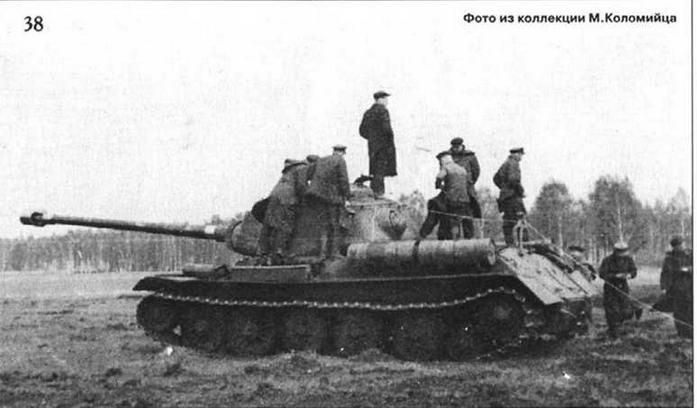 38 Испытания опытного образца орудия Д-30 и вариантов подвески, предназначенных для танка ИС-6. Осень 1944 г.