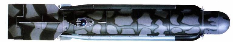 Германские сверхмалые субмарины Molch, K-FI. 1/412 (Lehrkdo 400), ноябрь 1944г. Вид сверху, спереди и сзади.