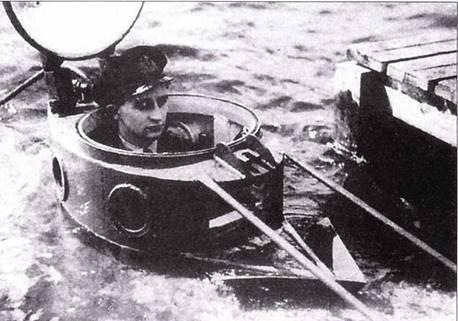В люке лодки типа Welman.