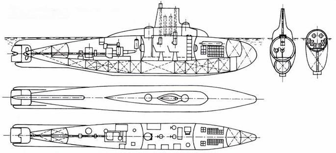 Сверхмалая немецкая экспериментальная подводная лодка VS-80.