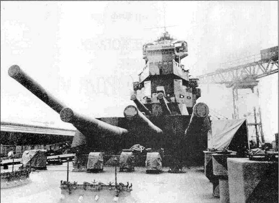 Передние башни «Кинг Джордж V», конец 1940 года