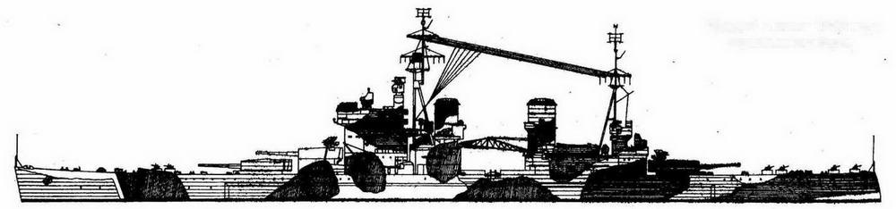 """""""Энсон"""" в июне 1942 года окраска левого борта"""