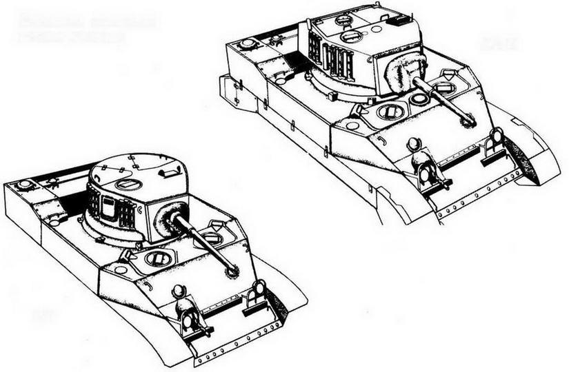 Внешние отличия легких танков М5 и М5А1