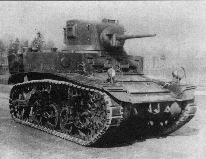 Легкий танк М3 А1 на НИБТПолигоне в Кубинке. 1946 год