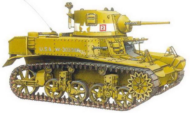 """Легкий танк M3А1 (Diesel). Рота """"С"""", 1-й <a href='https://arsenal-info.ru/b/book/348132256/10' target='_self'>танковый батальон</a> морской пехоты. Гуадалканал, декабрь 1942 года"""