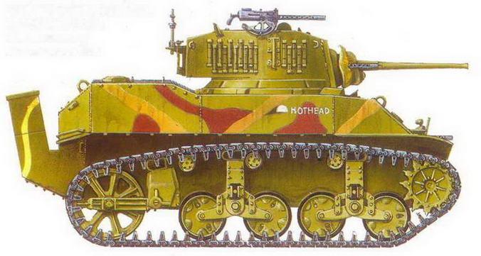 Легкий танк М5А1.