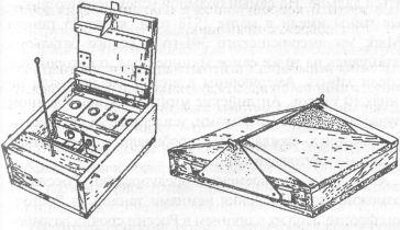 Противотанковые противогусеничные нажимные мины (1918г.); слева