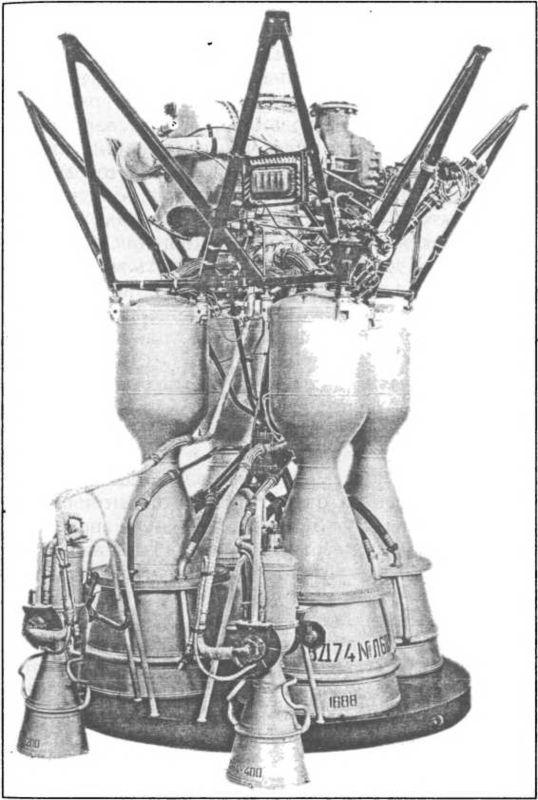 Первая ступень двигателя ракеты Р-7.