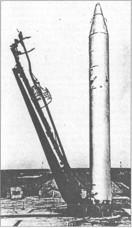 Р-36 на наземной пусковой установке.