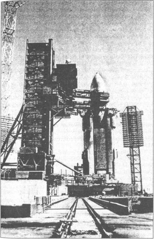 Ракета-носитель «Энергия» на стартовой площадке.