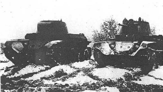 Телемеханическая группа танков на базе F>T-7.