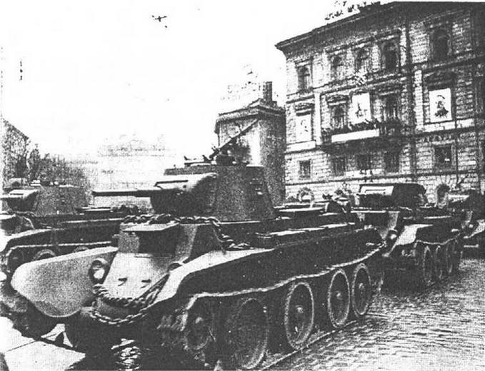 Парад во Львове 7 ноября 1939 года.