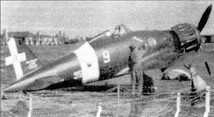 Осенью 1941г. 18-ю группу перевооружили истребителями С. 200. На снимке — самолет Бордони Бислери, Атини-Татои, октябрь 1941г.