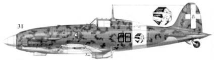 31. C.202 серии X MM9570 командира 88-й эскадрильи 6 Gruppo 1 Stormo капитана Данте Очарцо, Децшюманну, ноябрь 1942г.