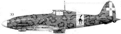 33. С. 205 У «Veltro» серии III ММ92156 серженте Феруччио Сера-фини, 378-я эскадрилья 155 Gruppo Autonomo, Kanomeppa, 22 июля 1943г.