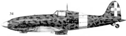 34.С. 202 серии Х1 тененте Орфео Маццителли, 359-я эскадрилья 22 Gruppo Autonomo, Каподичино, август 1943г.