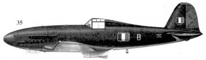 35. G.55 серии I MM91065, на истребителе, вероятно, летал капитане Джованни Бонет из Sqadriglia Complementare Montefusco ANR, Винариа-Риле, март 1944г.