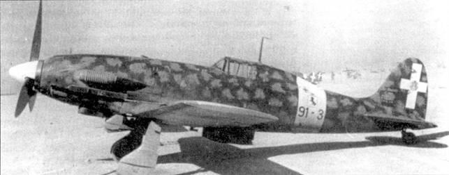 Истребитель С.202 «91-3» ММ7848 командира 73-й эскадрильи капитано Карло Русполи, самолет был оснащен фотокинопулеметом, установленном в носке левого крыла. В июле-октябре 1942г. Русполи одержал над Северной Африкой большинство из своих семи обед.