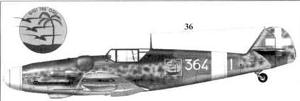 36. Bf.109G-6 Wk-Nr 18391 командира 364-й эскадрильи 150 Gruppo Autonomo капитана Марио Биллагамби, Скиачча, июнь 1943г.