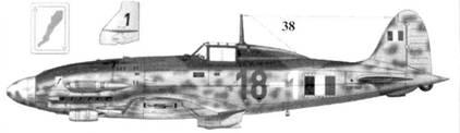 38. C.205V «Veltro» серии III ММ92287командира 1-й эскадрильи I Gruppa Caccia ANR капитана Адриа-но Висконти, Кампоформидо, апрель 1944г.