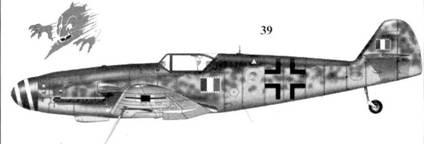 39. Bf.109G-10/AS Wk-Nr 490379 мересчиалло Аттилио Сансон, 5-я эскадрилья, II Gruppo Caccia ANR, Ocoppo, 3 марта 1945г.
