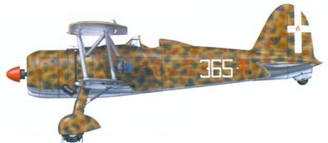 CR.42 капитано Джоджо Граффера, 1940г.