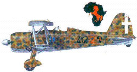 CR.42 тененте Марио Вицинтини, 1940г.