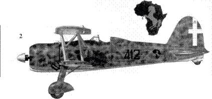 2. CR.42 тененте Марио Вицинтини, 412-я отдельная эскадрилья, Гура, лето 1940г.