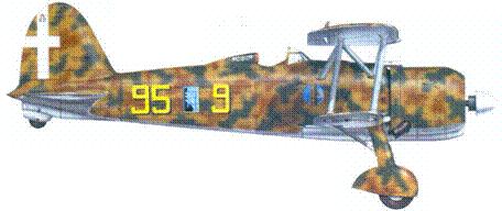 CR.42 сототененте Франко Бордлни Бислери, лето 1940г.