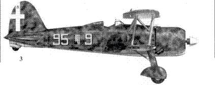 3. CR.42 сототененте Франко Бордини Бислери, 95-я эскадрилья. 18 Gruppo, 3 Stormo, Мирафиори, лето 1940г.