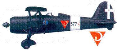 CR.42 тененте Луиджи Торчио. февраль 1943г.