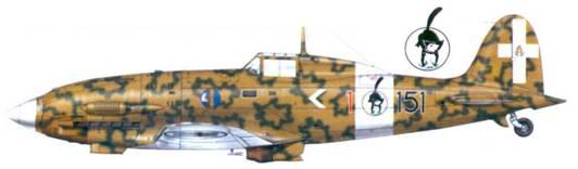C.202 капитано Фурио Николо Дглио,27 июля 1942г.