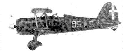 4. CR.42 маресциалло Феличе Лонги, 95-я эскадрилья. 18 Gruppo, 3 Stormo, Мирафиори, лето 1940г.