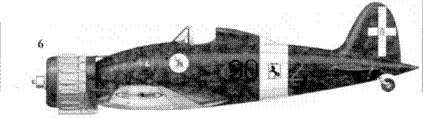 6. С.200 тененте Франко Луччини, 90-я эскадрилья. 10 Gruppo, 4 Stormo, Катанья, август 1941г.