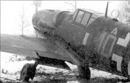 Истребитель Bf. 109G-6 «желтая 10» из состава II Gruppo Caccia, Чеди, ноябрь 1944г. В группе практиковалось наносить на самолеты опознавательные знаки и люфтваффе, и ANR.
