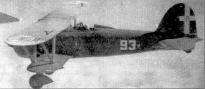 Истребитель CR.42 с символикой 93-й эскадрильи 2 Stormo. Несмотря на всю устарелость этих бипланов, пилоты Regia Aeronautica умудрялись в первые месяцы североафриканской кампании сбивать на них британские «Гладиаторы» и «Бленхеймы».