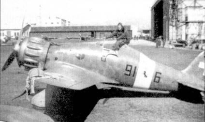 Истребитель С.200 сержепте мажжиоре Алессандро Бладелли (пять побед) из 91-й эскадрильи 10-й группа 4 Stormo. Это соединение прославилась равна как большим количеством асов, так и тяжелыми потерями в летном составе.